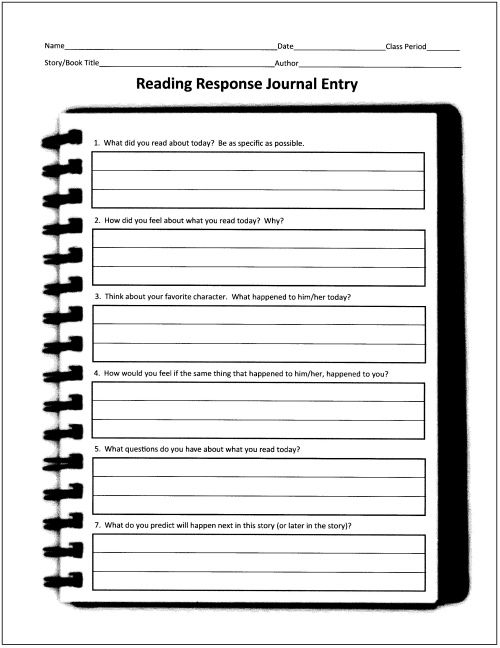 Best  Reading Response Log Ideas On   Reading