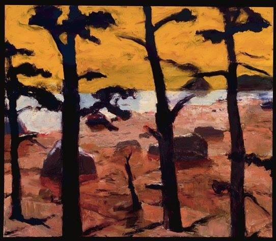 Elmer Bischoff (American, Bay Area Figurative Movement, 1916–1991): Yellow Sky, 1967. Oil on canvas, 79-5/8 x 92-1/8 inches (202.25 x 234cm). San Francisco Museum of Modern Art, San Francisco, California, USA. © Estate of Elmer Bischoff