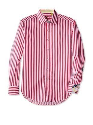 55% OFF Robert Graham Men's Mr. Balik Long Sleeve Woven Shirt (Fuchsia)