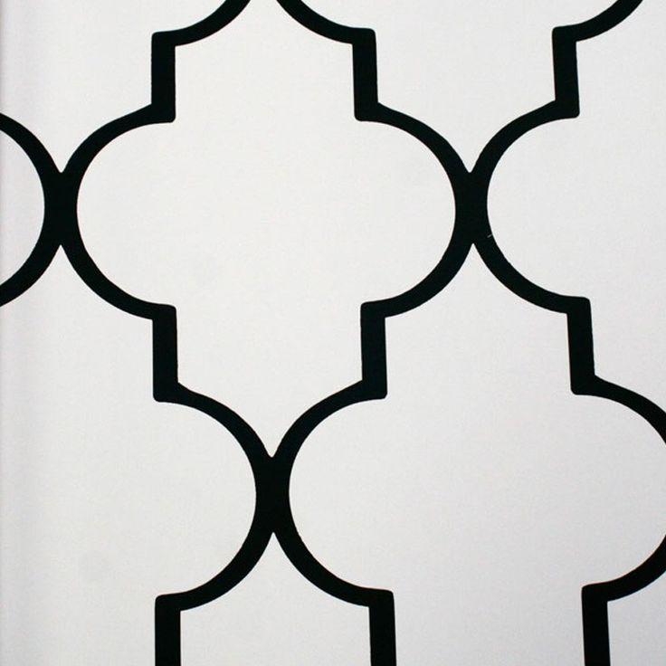 "Mood Living ""Alahambra"" Black and White Wallpaper"