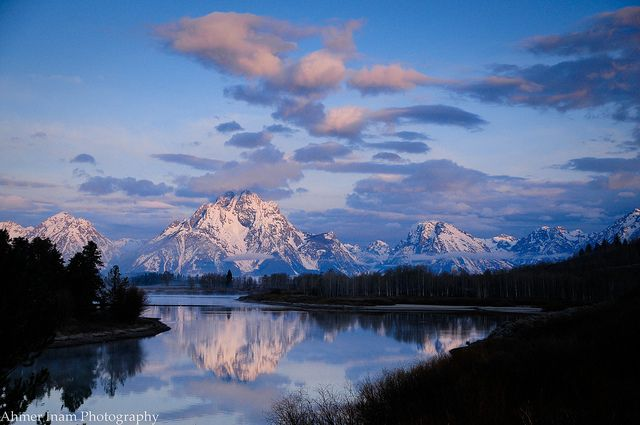 Mt. Moran & Snake River, Wyoming by Ahmer Inam