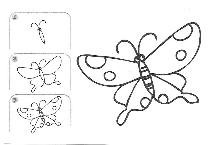Butterfly Drawing For Kids Step By Step | For Children and ...