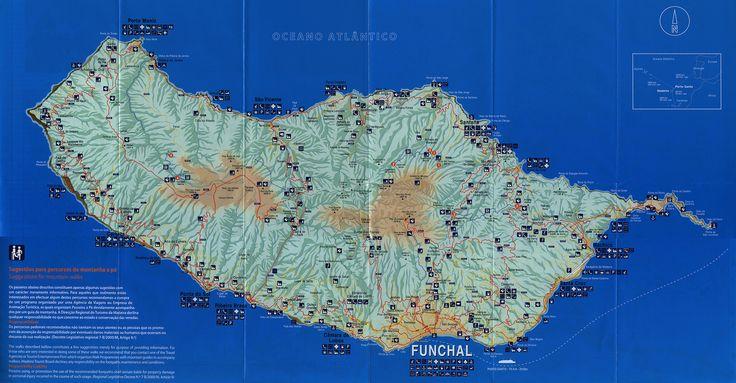 madeira mapa map carte karte; 2012_2, Portugal overseas territory | tourism travel brochure | by worldtravellib World Travel library
