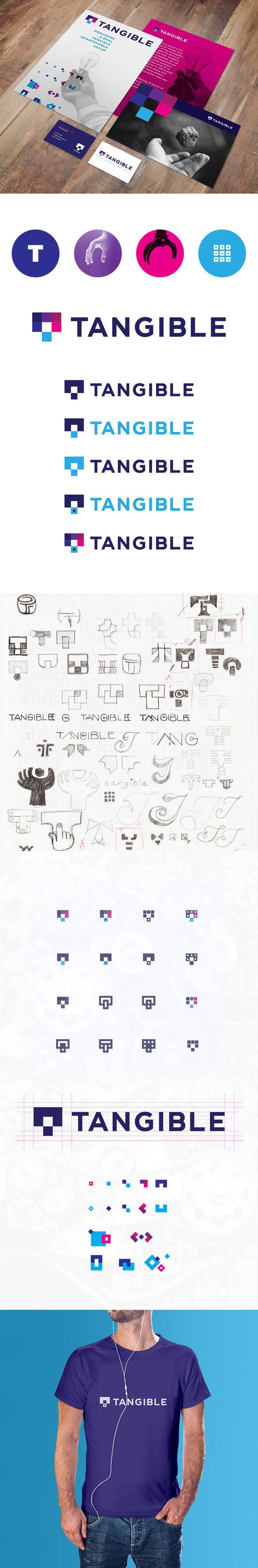 Custom logo design project for Tangible web development IT company.