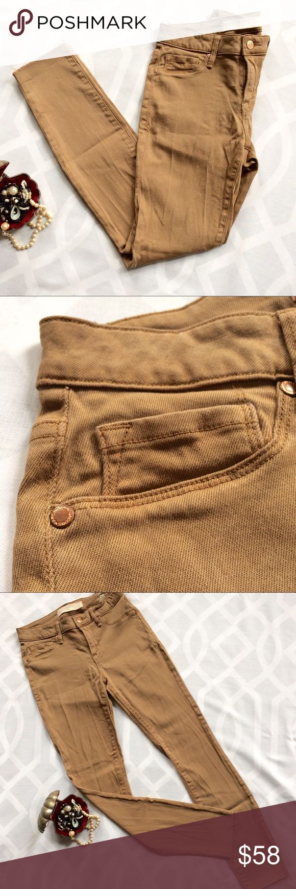 MARC by MARC JACOBS Raw Hem Khaki Skinny Pants MARC by MARC JACOBS Tan/Khaki Stretch Skinny Pants. 2 back pockets. Faux Front Pockets. Raw Hem is very on trend.     Condition: Great/Used, raw hem  Style: Standard Supply; Model # STICK; Type WORKWEAR; M1113909 Color: BOWERY BRASS Size: 28 Waist (flat): 13.75in Rise (front): 8.5in Inseam: 28.5in Leg Opening (flat): 5in Marc by Marc Jacobs Pants Skinny