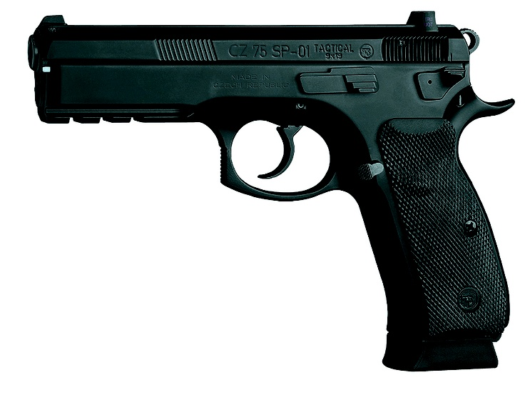 CZ 75 SP-01 Tactical pistol is a big-size handgun designed for duty in law enforcement or military service, but also for target shooting or self defence having a large capacity double-column magazine holding 18 cartridges of cal. 9x19 and featuring classic DA firing mechanism (SA/DA). The pistol design is based on proved CZ 75 platform. Grip panels made of rubber are provided with checkerings.
