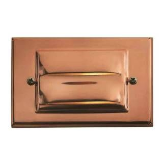 """Check out the Hinkley 1546CO-LED Landscape 3""""H 1 Light LED Outdoor Step Light Deck in Copper"""