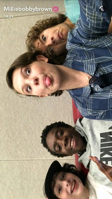 Millie Bobby Brown and Stranger Things Cast