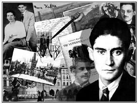 """Few authors have had as widespread an impact on modern literature as Franz Kafka and even fewer biographers have brought such authors so fully to life as Ernst Pawel does Kafka in """"The Nightmare of Reason."""" (Kafka 2003 collage by Klaus Oppermann) From essay """"Franz Kafka's Noble Nightmares & Reasons"""" by Aberjhani. Book Review http://www.authorsden.com/categories/article_top.asp?catid=54"""