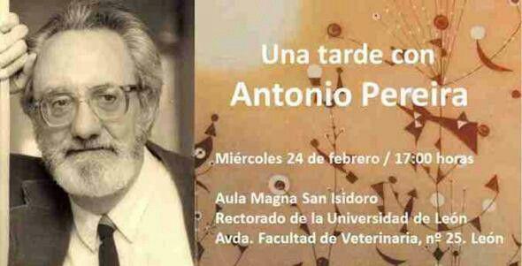 La Universidad de León dedica hoy 'una tarde' a la figura de Antonio Pereira