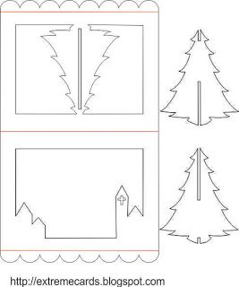 3d christmas tree pop up