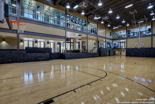 This indoor basketball court in San Antonio, TX has been used by ...