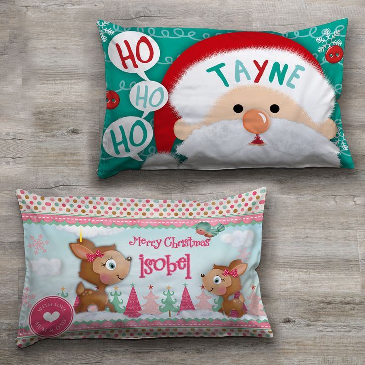 Personalised Kids Christmas Pillowcases