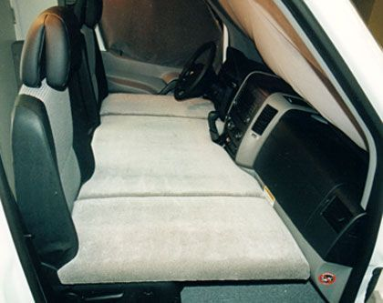Mercedes Camper Van For Sale >> making a bed in the front seat of a van - Google Search | RV Life | Pinterest | Search, Bed in ...