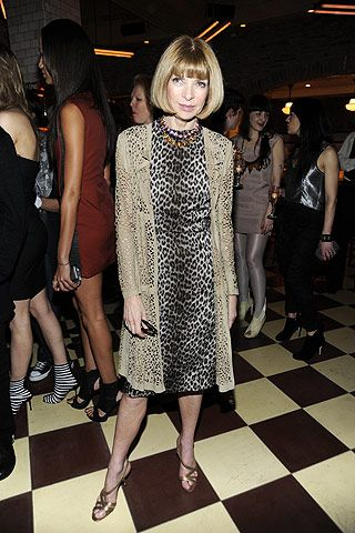 Anna Wintour Photos Emma Watson Toasts Emerging London Designers on Style.com