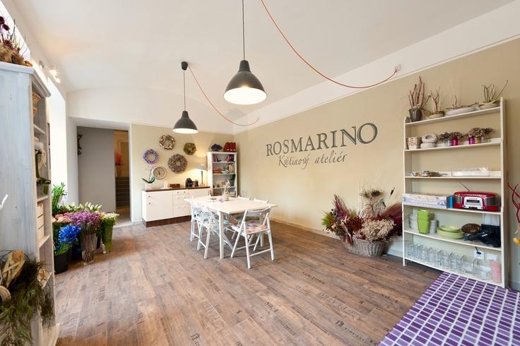 My flower atelier ROSMARINO in Prague...more on www.rosmarino.cz