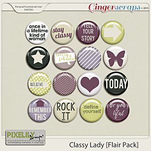 {Classic Lady} Digital Flair by Pixelily Designs available at Gingerscraps http://store.gingerscraps.net/Pixelily-Designs/ #digiscrap #digitalscrapbooking #pixelilydesigns #classiclady