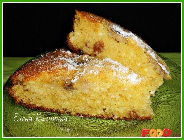 Творожный кекс с бананом