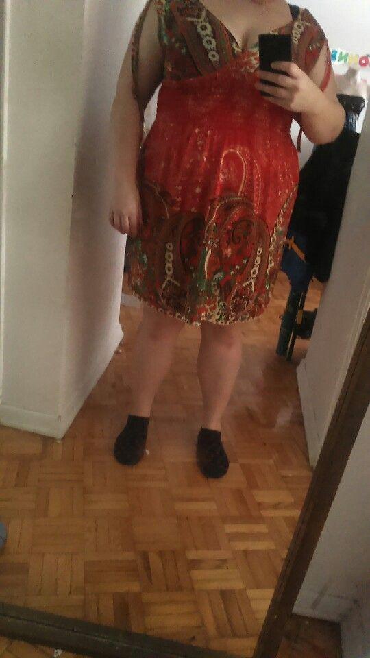 Beautifal 1-2x stretch summer  dress nwot