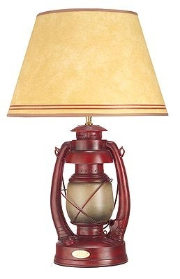 Another possible lamp, I would prefer one like this for his cabin themed room. Can't wait for garage sale season...