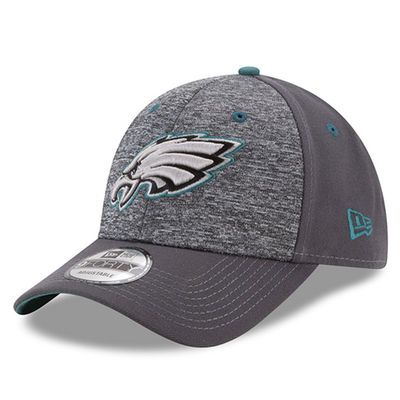 Men's New Era Heathered Gray/Graphite Philadelphia Eagles The League Shadow 2 9FORTY Adjustable Hat