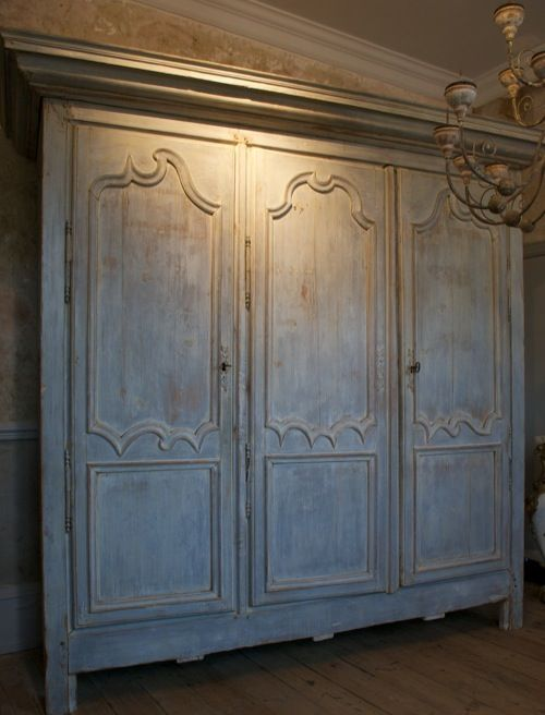 french armoires | antique french armoire a french pine three door armoire with original ...