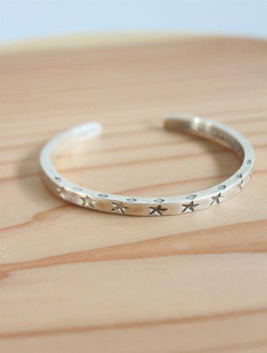 SLOW HANDS Star Narrow Bracelet / 925 Silver (MENS & LADIES) - ALPOA online store
