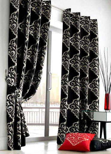 black and white pattern love these curtains