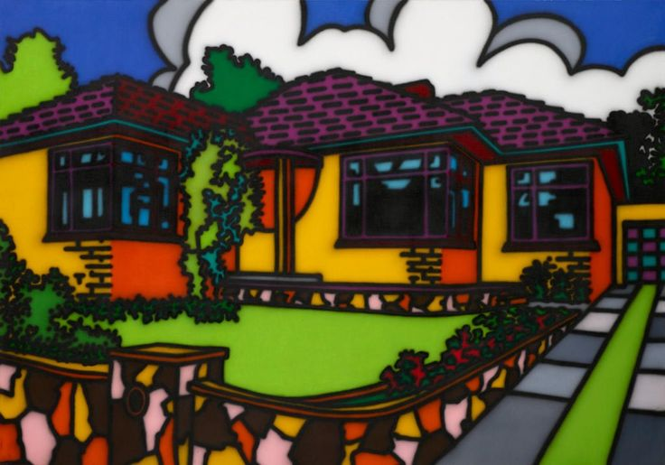 Howard Arkley Triple fronted 1987 Art Gallery of NSW, Mollie and Jim Gowing Bequest Fund 2014  :: Pop to popism :: Art Gallery NSW