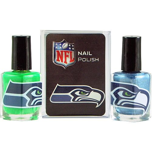 KE Specialties Seattle Seahawks Team Colors Nail Polish - Set of 2 - NFLShop.com
