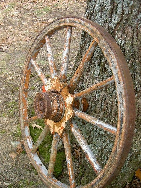 Vintage Antique Wagon Wheel