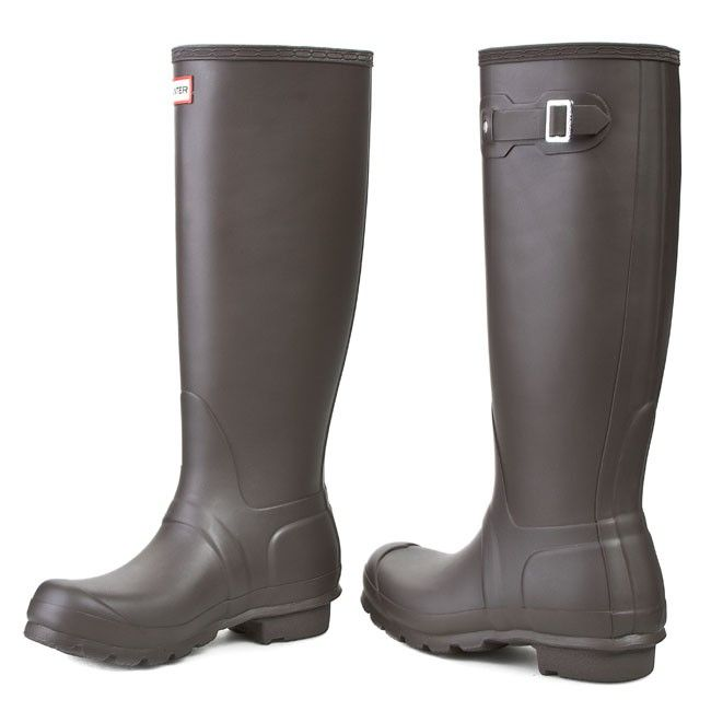 Kalosze HUNTER - Womens Org Tall WFT1000RMA Bitter Choc