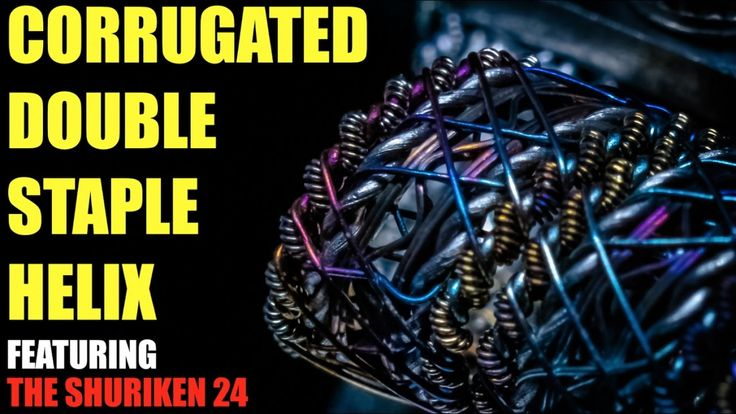 How to Build a Corrugated Double Staple Helix Coil | Featuring the Shuriken 24 RDA https://medium.com/@padmaaccessorieslimited/how-to-build-a-corrugated-double-staple-helix-coil-featuring-the-shuriken-24-rda-9d63a36ebbe5