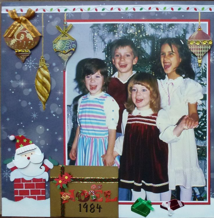 "Memories of Christmas 1984. I'm entering it in the Lasting Memories challenge #222 ""Anyrhing Goes"" with a Holiday Theme."