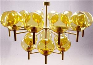 Lauritz.com - Modern lighting - Uno & Öster Kristiansson, Luxus, pendant, Candus Globo, 18 globes - SE, Stockholm, Slakthusgatan