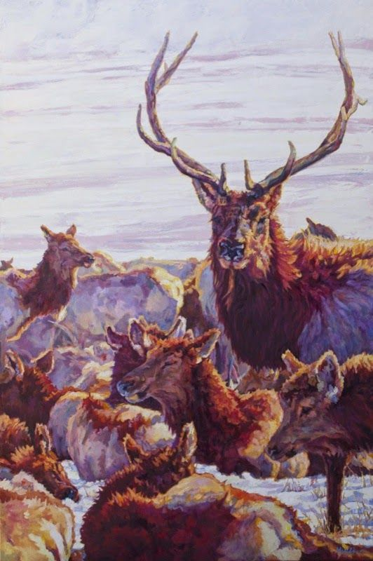 Image Result For Contemporary Stag Painting