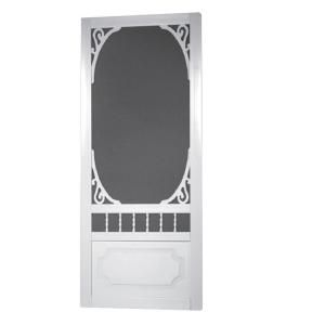 Screen Tight, 32 in. Belle Harbour Vinyl Screen Door, BH32 at The Home Depot  for garage to house screen...