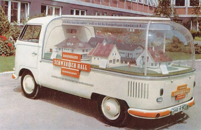 Bubble VW Golf with town diorama, to promote home loan finance.