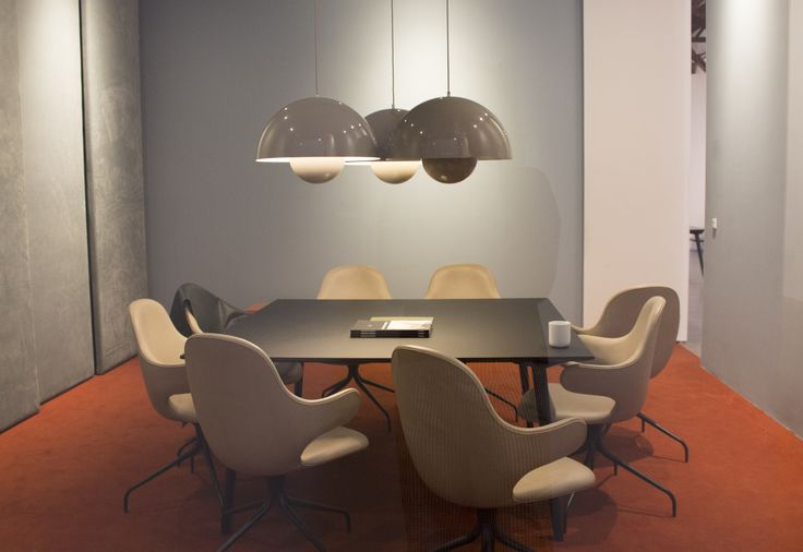 MEETING ROOMS THE &TRADITION WAY. FLOWERPOT PENDANTS AND CATCH CHAIRS ADD PERSONALITY.