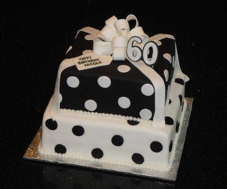 Black Amp White Polka Dot Cake For Birthday Let S Get This