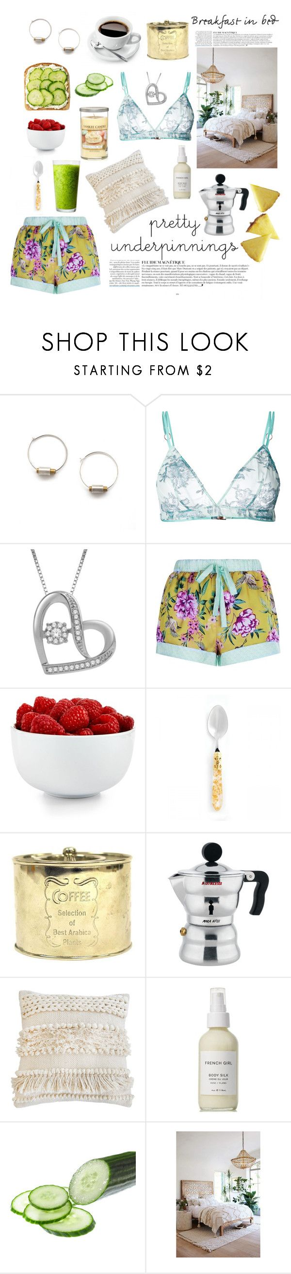 """Breakfast in bed"" by linmari ❤ liked on Polyvore featuring Anja, Yes Master, The Cellar, Alessi, Pom Pom at Home, French Girl, Anthropologie and Yankee Candle"