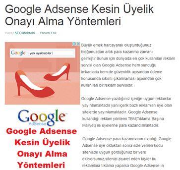 AdSense Reklamlarını Blogger Yazı İçine Ekleme