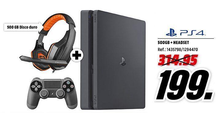 724aa3a7f0a PS4 Slim 500GB Auriculares Gaming por sólo 199 en Media Markt ...