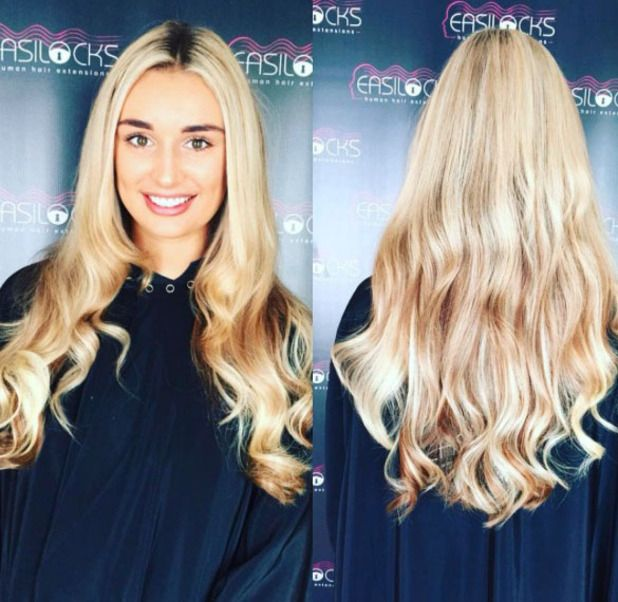 79 best hair extensions celebrities images on pinterest hair love islands rachel fenton shows off her much longer blonder hair on instagram courtesy of easilocks pmusecretfo Image collections