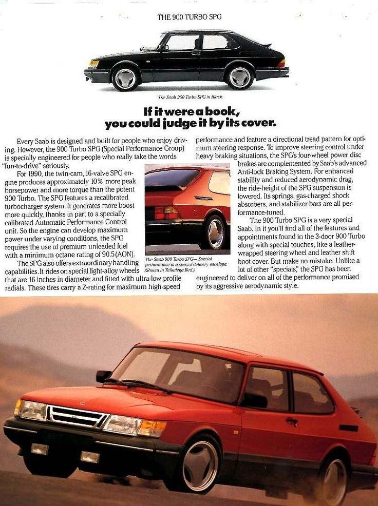The Saab 900 Turbo SPG Article In Road & Track Magazine