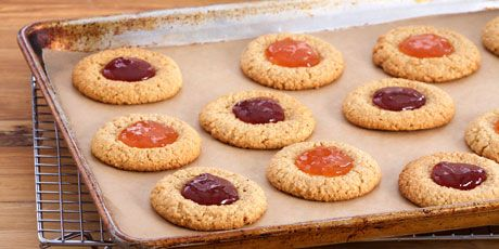 Almond Butter Thumbprint Cookies