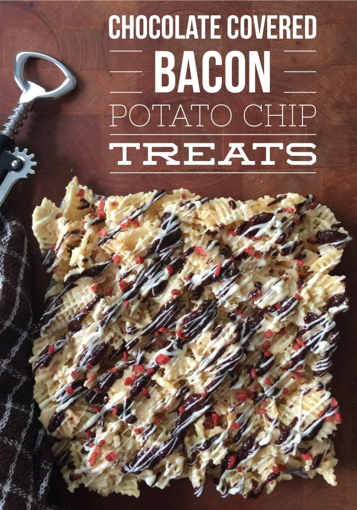 Chocolate Covered Bacon Potato Chip Treats