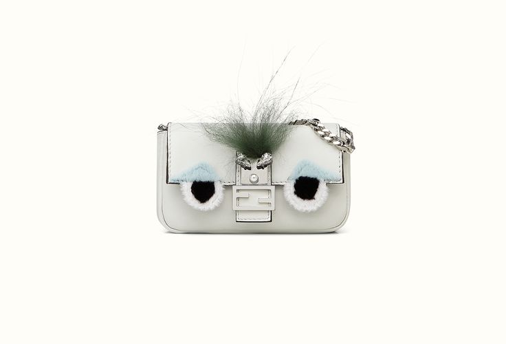 The Fendi Spring/Summer 2015 Micro Baguette in white leather