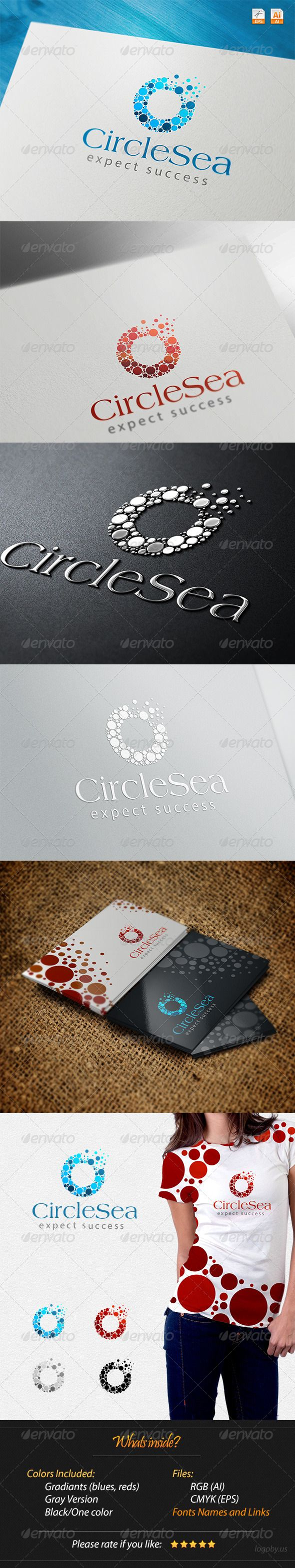 Circles Sea Expect Success Logo