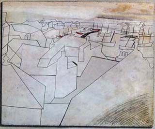 Ben Nicholson St Ives Rooftops  http://www.monnowvalleyarts.org/images/StIvesRooftopscolourweb_001.jpg